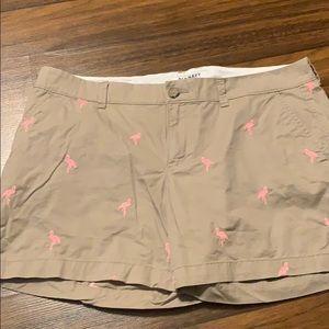Old navy flamingo khaki shorts size 12